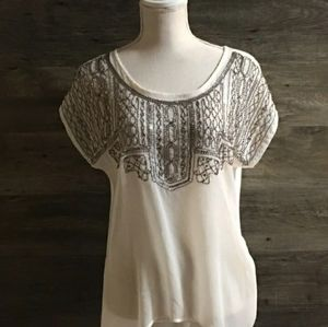 Very pretty Maurice's cream color top  size L